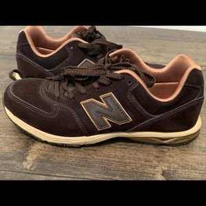 Brown, Carmel & gold New Balance 654